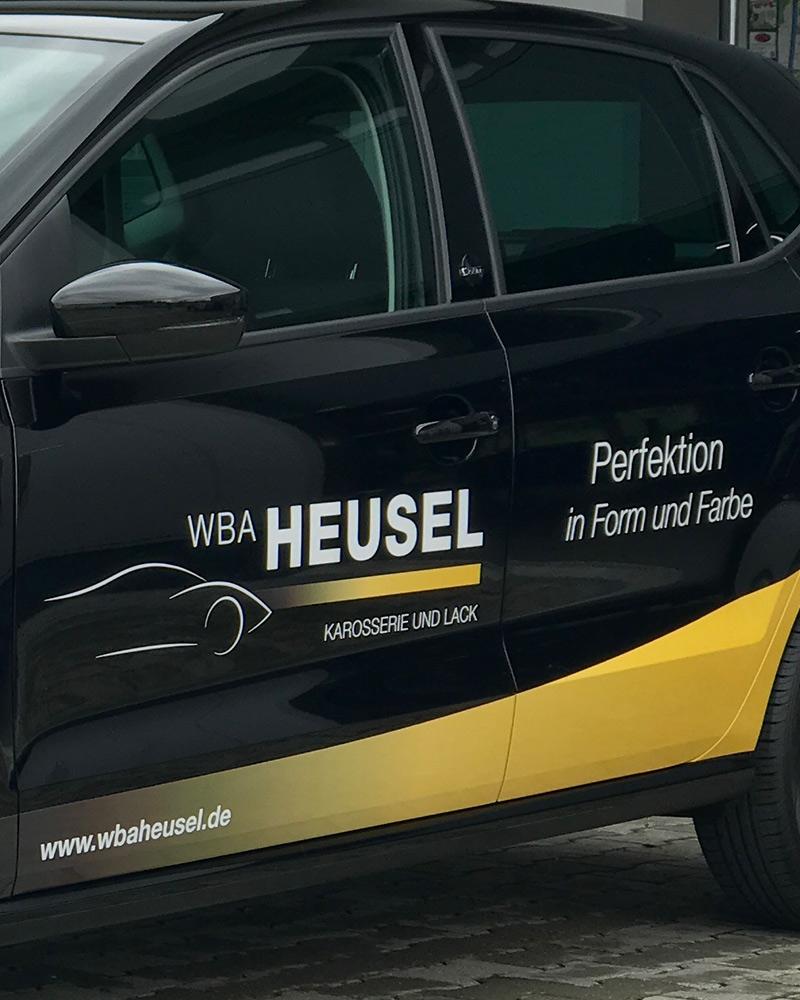 Fahrzeugbeschriftung WBA Heusel