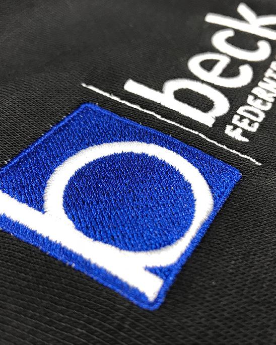 Textilstickung der Firma beck Federntechnik